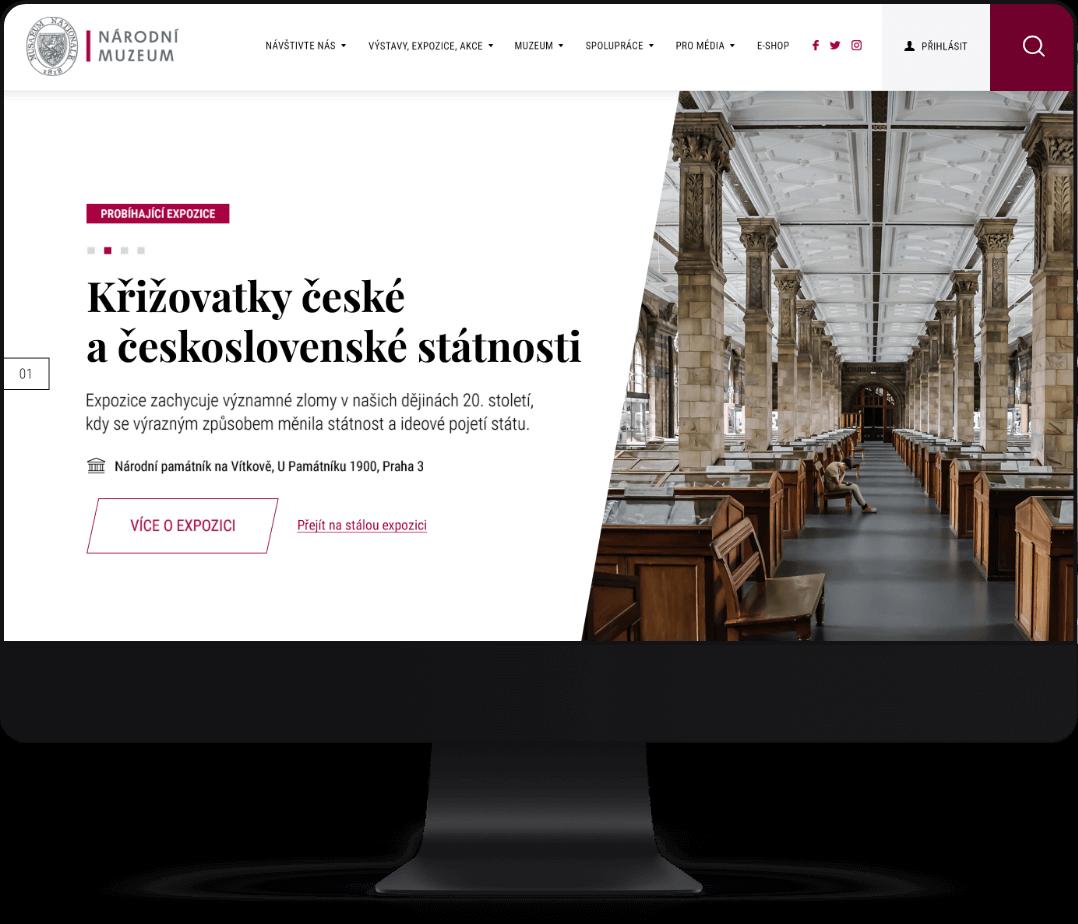 Tvorba webových stránek na míru pro Národní muzeum