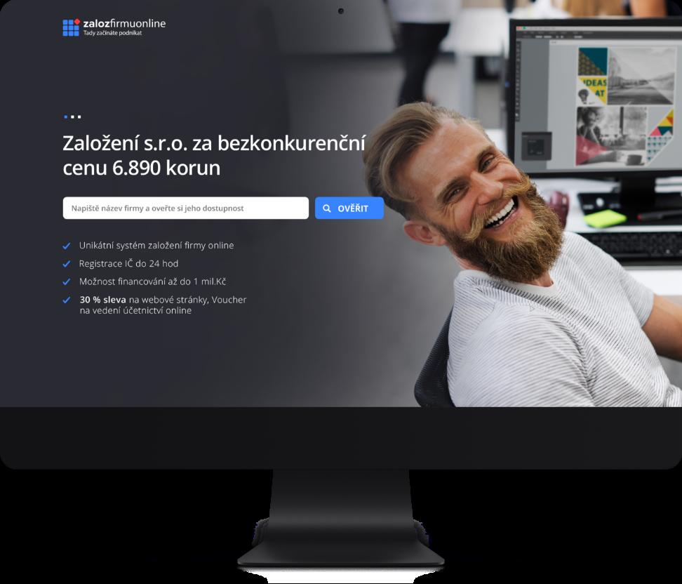 Tvorba webu a kompletní brand identity pro startup Zalozfirmuonline.cz